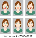 set of flat vector icon avatar... | Shutterstock .eps vector #730042297