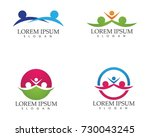 family care love logo and... | Shutterstock .eps vector #730043245