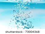 bubbles in the water - stock photo