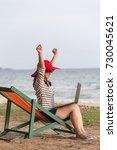 beautiful women are using a... | Shutterstock . vector #730045621