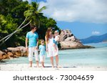portrait of happy young family... | Shutterstock . vector #73004659