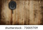 Cowboy hat, against an old barn background. - stock photo