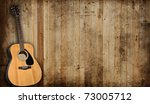 Acoustic Guitar Against An Old...