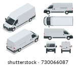 commercial vehicle. logistic... | Shutterstock .eps vector #730066087