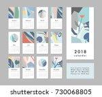calendar 2018. printable... | Shutterstock .eps vector #730068805
