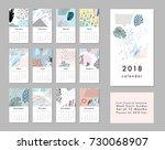 calendar 2018. printable... | Shutterstock .eps vector #730068907