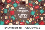 merry christmas and happy new... | Shutterstock .eps vector #730069411