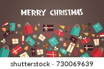 merry christmas and happy new... | Shutterstock .eps vector #730069639
