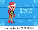 Cute Elf On Happy New Year...