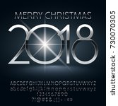 vector chic merry christmas... | Shutterstock .eps vector #730070305