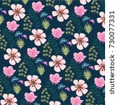 flower pattern | Shutterstock .eps vector #730077331