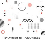 abstract modern geometric... | Shutterstock .eps vector #730078681