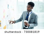 portrait of concentrated...   Shutterstock . vector #730081819