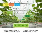 smart agriculture concept ... | Shutterstock . vector #730084489