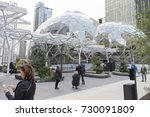 the amazon world headquarters... | Shutterstock . vector #730091809