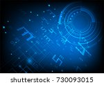 technology background  digital... | Shutterstock .eps vector #730093015