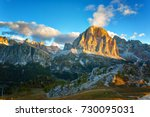 mountain cinque torri  the five ... | Shutterstock . vector #730095031