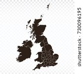 map united kingdom map. each... | Shutterstock .eps vector #730096195