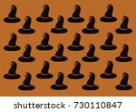 witch hat pattern on an orange... | Shutterstock .eps vector #730110847