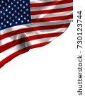 grunge colorful flag america... | Shutterstock . vector #730123744