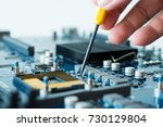 electronic device computer... | Shutterstock . vector #730129804
