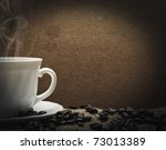 cup of hot coffee - stock photo