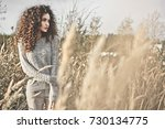 outdoor atmospheric lifestyle... | Shutterstock . vector #730134775