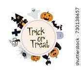 happy halloween vector... | Shutterstock .eps vector #730138657