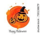 happy halloween vector... | Shutterstock .eps vector #730138879
