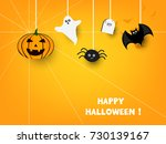 happy halloween vector... | Shutterstock .eps vector #730139167