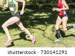 a female high school cross... | Shutterstock . vector #730141291