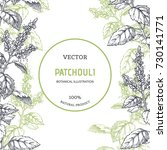 vintage floral background with... | Shutterstock .eps vector #730141771