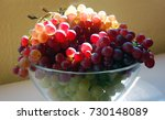 red and white grapes on wooden... | Shutterstock . vector #730148089