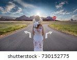 woman standing in front of... | Shutterstock . vector #730152775