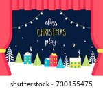 school or theatre stage... | Shutterstock .eps vector #730155475
