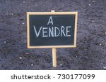 for sale board black board with ... | Shutterstock . vector #730177099