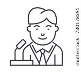 politican vector line icon ... | Shutterstock .eps vector #730178395