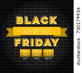 abstract vector black friday... | Shutterstock .eps vector #730179934