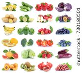 fruits and vegetables... | Shutterstock . vector #730180501