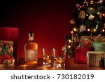 close up view  of two glasses...   Shutterstock . vector #730182019