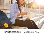 photo of smiling asian female... | Shutterstock . vector #730183717