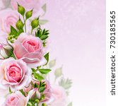 floral background. garland of... | Shutterstock . vector #730185565
