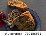 artisan made savoy olive loaf...   Shutterstock . vector #730186981