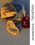 artisan made savoy olive loaf...   Shutterstock . vector #730187005