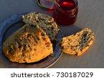 artisan made savoy olive loaf...   Shutterstock . vector #730187029