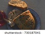 artisan made savoy olive loaf...   Shutterstock . vector #730187041