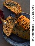 artisan made savoy olive loaf...   Shutterstock . vector #730187059