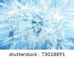 Man Within Block Of Frozen Ice...
