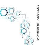 abstraction of mechanics ... | Shutterstock .eps vector #730192219