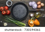 concept of cooking scrambled... | Shutterstock . vector #730194361